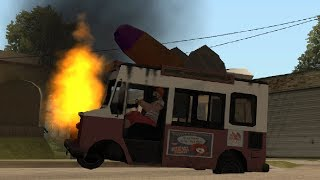 GTA San Andreas: How To Drive a Wrecked Car - Grand Tutorial Auto
