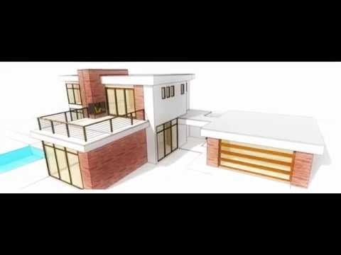 Retro Post Modern House Plan The Plan Collection YouTube