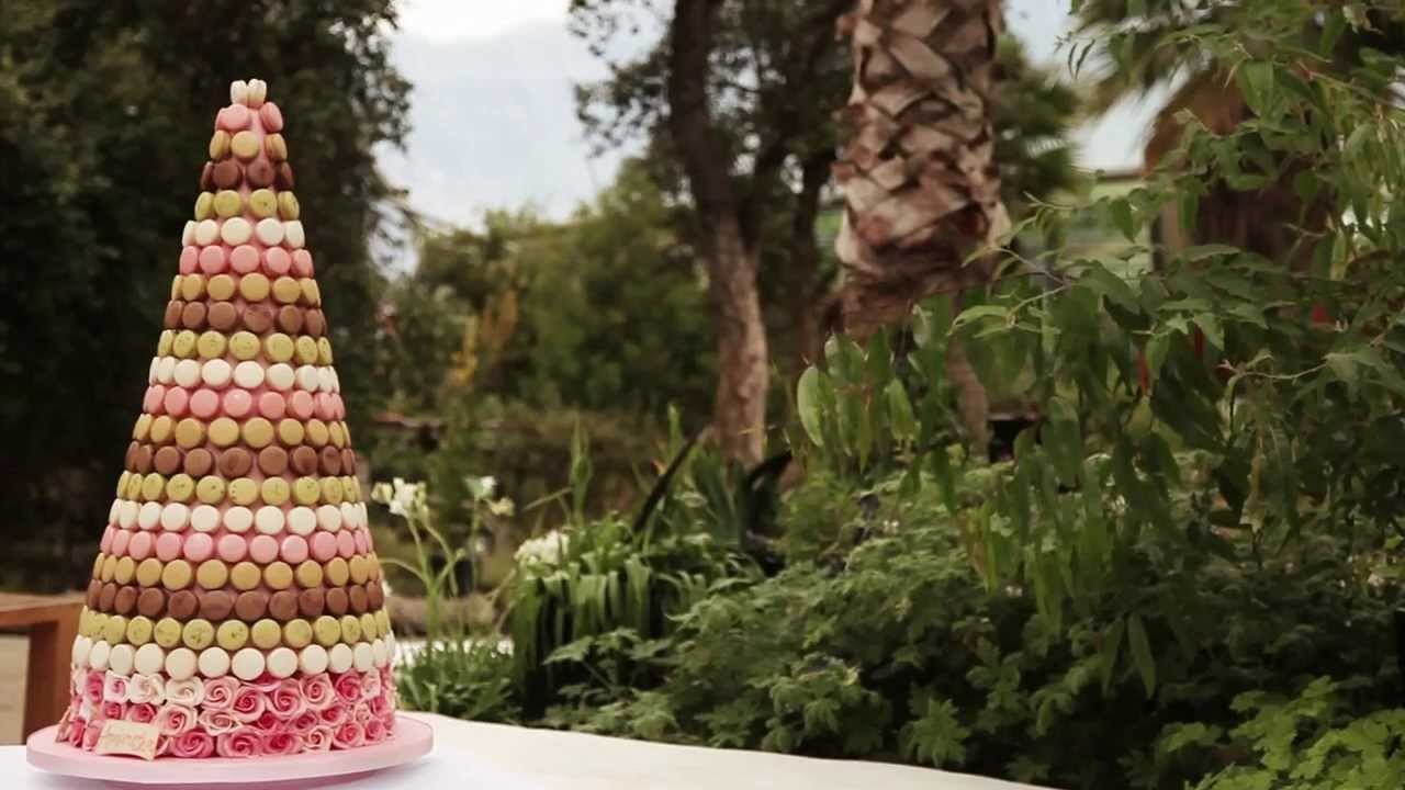 Macaron Tower Wedding Cake At Eden Project By Nicky Grant