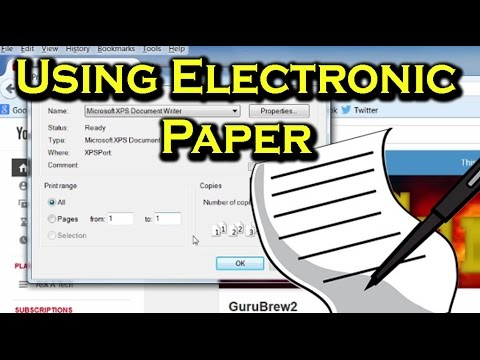 Electronic Paper: Printing to a File as an XPS - Ask a Tech #22
