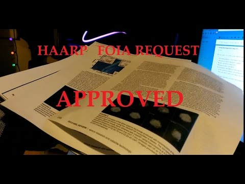 1/23/2015 -- HAARP FOIA request HONORED! Office of Naval Research sends pack