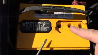 How To Add Water To A Car Battery