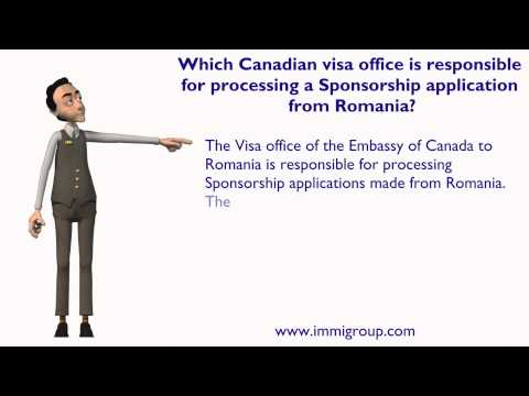 Which Canadian visa office is responsible for processing a Sponsorship application from Romania?