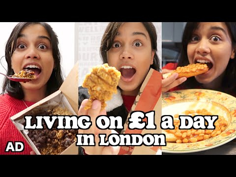 living on 1 a day in LONDON | clickfortaz