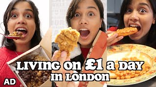 living on £1 a day in LONDON | clickfortaz
