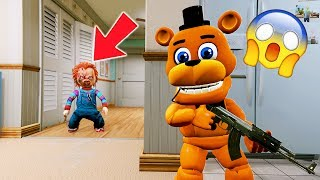 CAN ADVENTURE FREDDY HIDE FROM EVIL DOLL CHUCKY? (GTA 5 Mods For Kids FNAF RedHatter)