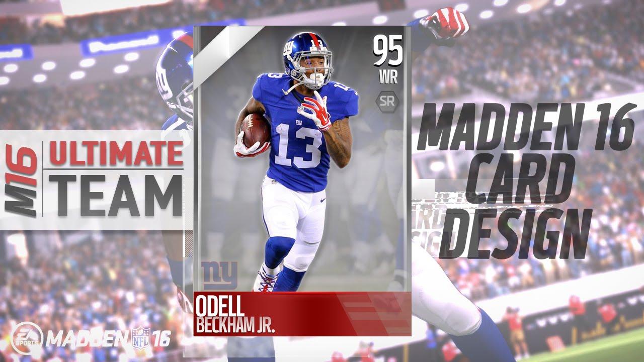 Madden 16 Card Design Concept Sdart - YouTube