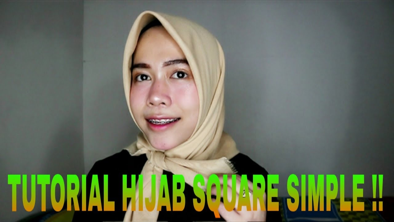Tutorial Hijab Segiempat Simple Ga Pake Ribet Aulia Noor Cholifah Youtube