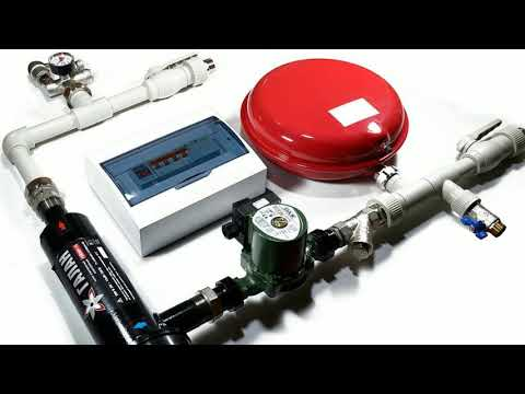 Hydraulic installation for the Gejzer 6 or Geyzer 9 electrode boiler. Promo video.