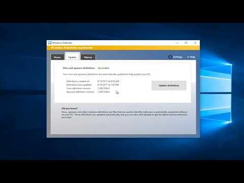 How To Update Windows Defender In Windows 10