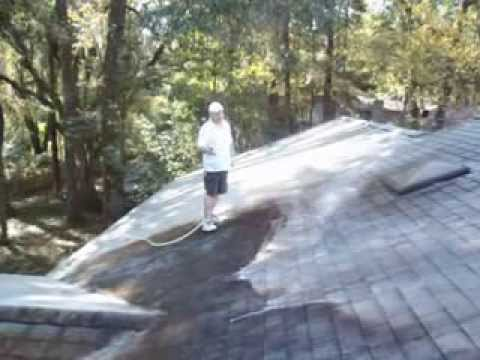 How To Clean Dirty Roof Shingles #1   Capital Roof Wash And Exterior  Cleaning   Tallahassee   YouTube