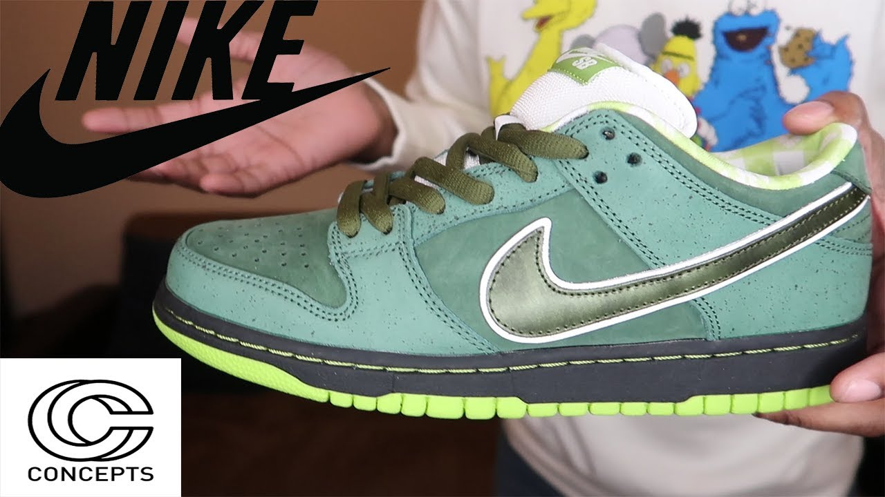 NIKE X CONCEPTS GREEN LOBSTER SB DUNK SPECIAL EDITION IN HAND REVIEW ... c246362dd