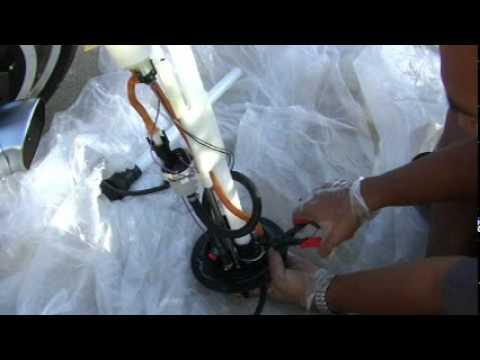 Replacing Fuel Sending Unit on 2011 V-Rod VRSCF Mu - YouTube