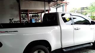 รถกระบะ-toyota-revo-ติดตั้งปั๊มลมพร้อมแตรด่วน