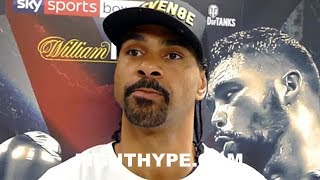 DAVID HAYE GIVES WILDER & JOSHUA NEGOTATION ADVICE; SAYS ONE SIDE SHOWING SIGNS THEY MAY NOT WANT IT