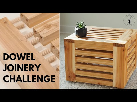 Slatted Cube Table || Dowel Jig Shootout
