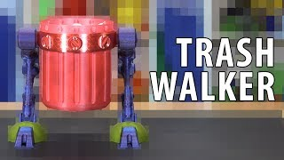 3D Printing a Trash Walker - The Trashcan Never Looked So Good