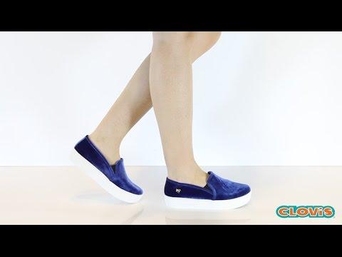 dd503a0297 Tênis Feminino Flatform Veludo - Via Marte - YouTube