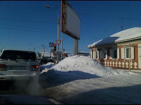Мифический снег. Омск. 30 января 2017 г.