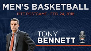 MEN 39 S BASKETBALL Tony Bennett Pitt Postgame