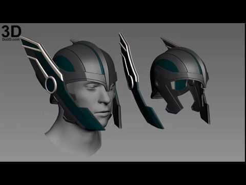 3D Printable Model: Thor Ragnarok Helmet by Do3D com   Print File (Plan,  Schematic) Format: STL