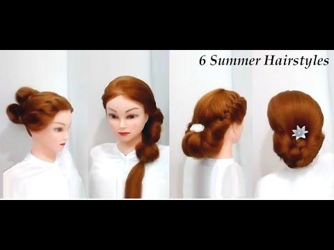 6 Easy Summer Hairstyles For Medium Or Long Hair Youtube