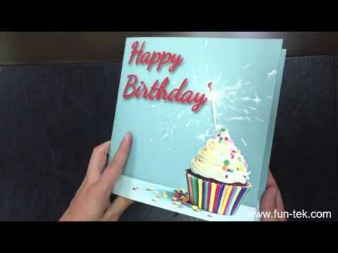 Personalized 4.3'' LCD Video Birthday Greeting Card with CMYK Print