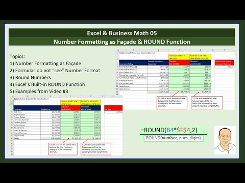 Excel & Business Math 05: Number Formatting & When You MUST Use ROUND Function