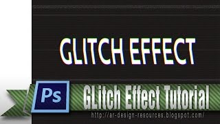 Glitch Text Effect — Photoshop Tutorial