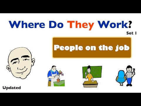 Thumbnail: Where Do They Work? | People and Places of Work | English Speaking Practice | ESL | EFL | ELL