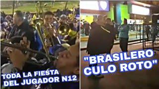 El cruce entre hinchas de Boca Juniors y Palmeiras
