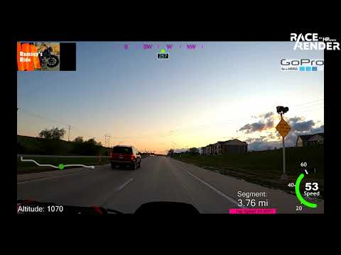 Post-Storm Harley GoPro Ride - Beautiful Sunset - Bellevue & Papillion, NE