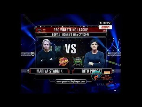 PWL 2017: Mariya Stadnik Vs Ritu Phogat 6th Jan | Colors Delhi Sultans Vs Jaipur Ninjas