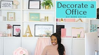 How to Design & Create Home Office | DIY Rose Gold & Marble Office | Interior Design