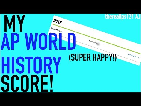 My AP World History Exam Score!