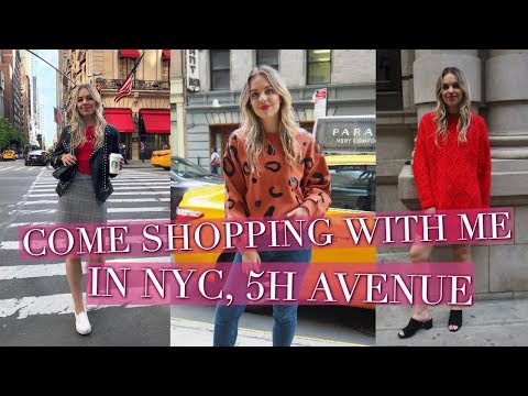 COME SHOPPING WITH ME IN NEW YORK - FIFTH AVENUE | ZARA, H&M, TOPSHOP, AND OTHER STORIES HAUL | 2017