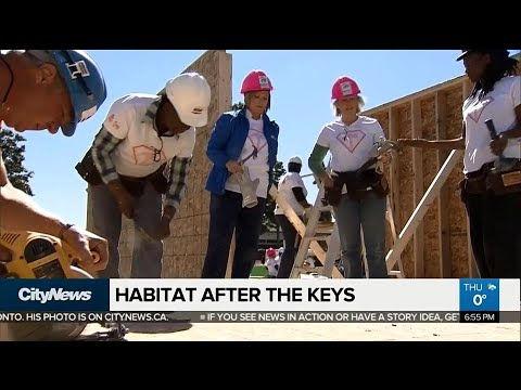 What happens after families move into a Habitat for Humanity home