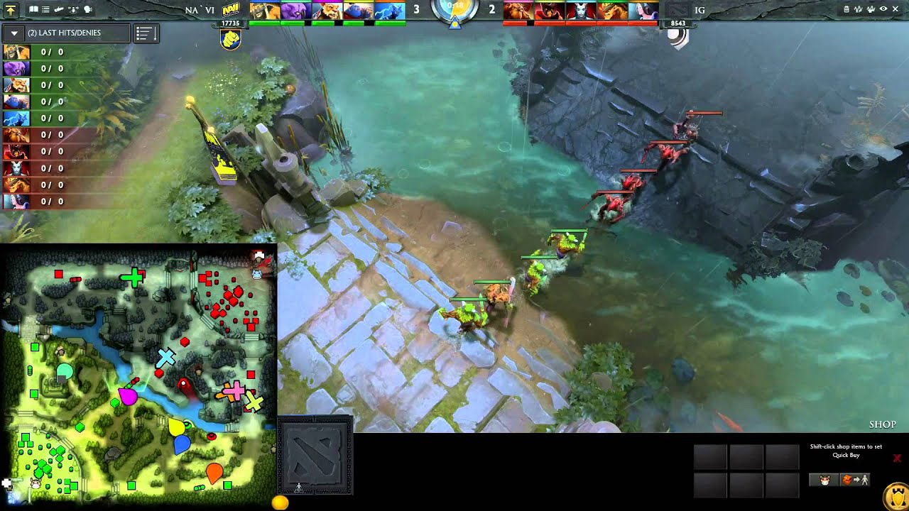 DOTA2 Minimap for spectator mode