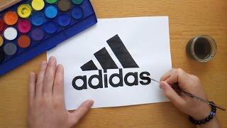 How to draw the adidas logo (Drawing famous logos)