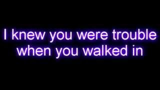 Taylor Swift - I Knew You Were Trouble WITH LYRICS- YouTube
