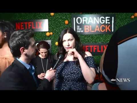 Taylor Schilling and Laura Prepon OITNB premiere 5 season (Piper and Alex, Vauseman)