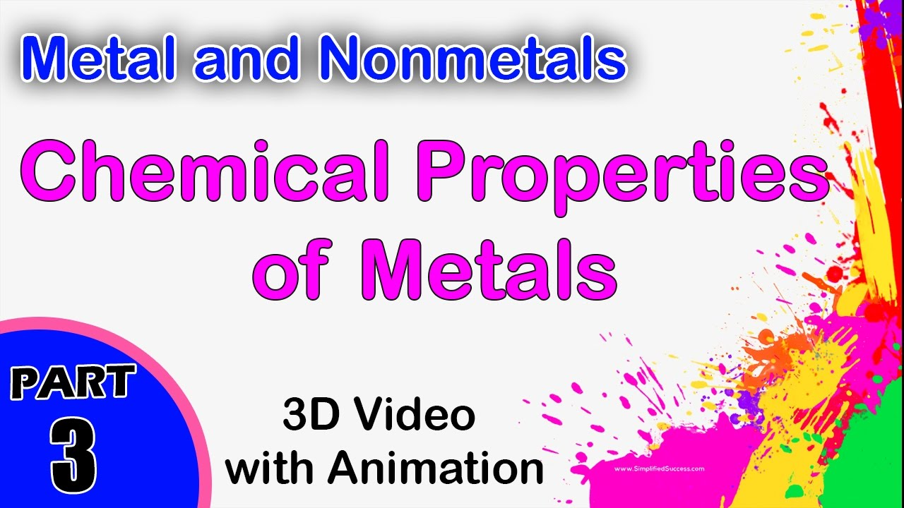 chemical properties of metals metal and nonmetals cbse physics jee main and advanced physics