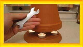 Teelichtofen Lampe selbst bauen, 50 °C + mit DIY Selbstversorger - Candle powered heater