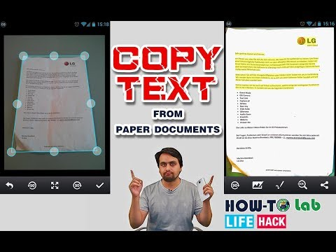 How To COPY TEXT From PAPER DOCUMENT Without Typing【HOW TO LAB】