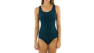 Penbrooke Krinkle Cross Back Mio One Piece | SwimOutlet.com