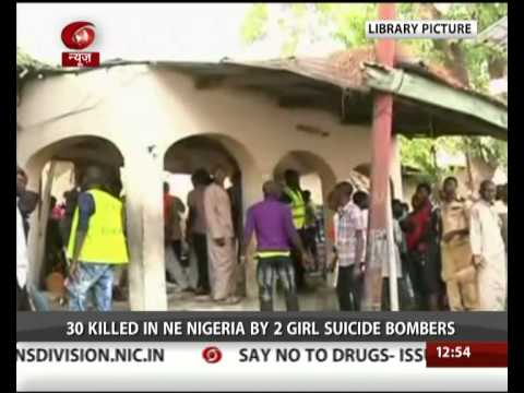 30 dead in suicide bomb attack in Nigeria