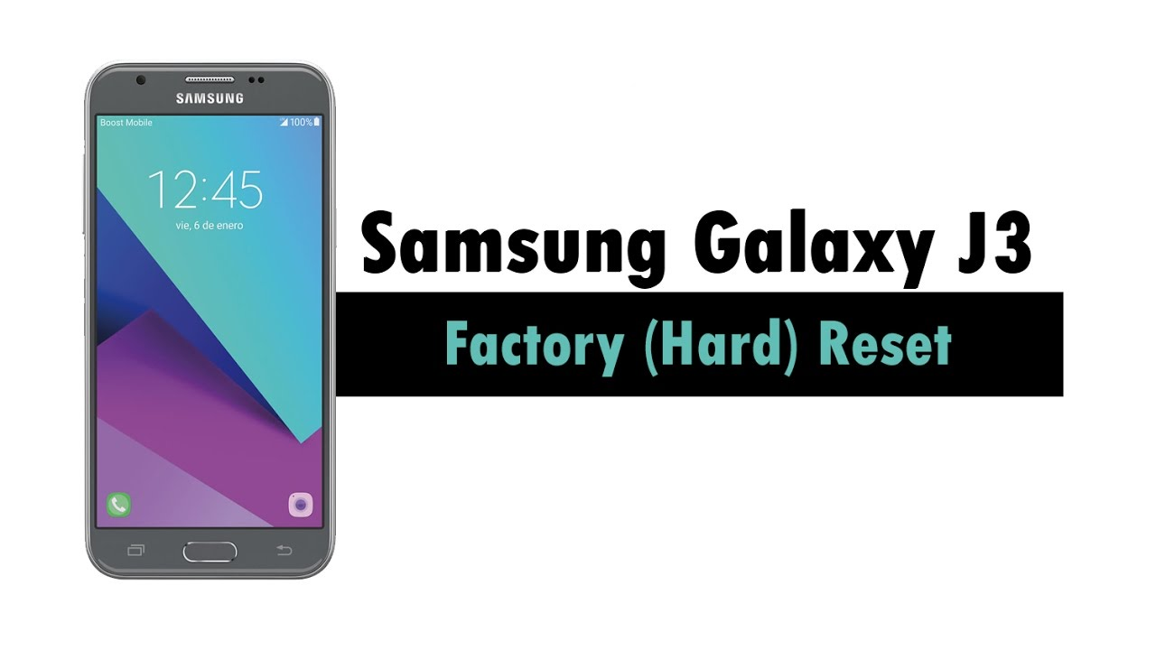 Samsung Galaxy J3 - How to Reset Back to Factory Settings ...