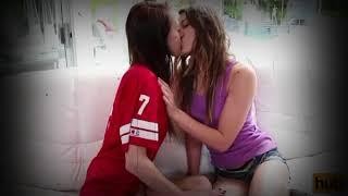 Lesbian Sister Kissing !!