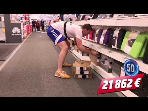 "38009 € in 120 seconds ""Crazy Shopping 2017"" by Media Markt Gosselies (Belgium)"