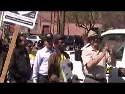 MEChA students protest Blue Diamond Growers